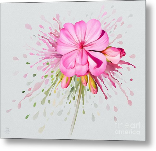 Pink Eruption Metal Print