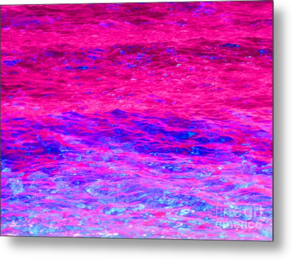 Pink Fantasy Waters Abstract Metal Print