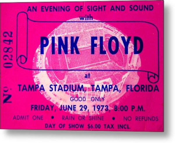 Pink Floyd Concert Ticket 1973 Metal Print