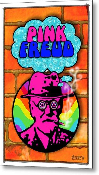Pink Freud Metal Print by John Goldacker