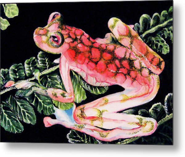 Pink Frog Metal Print