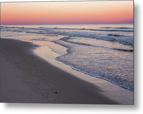 Pink Glow Seaside New Jersey 2017 Metal Print