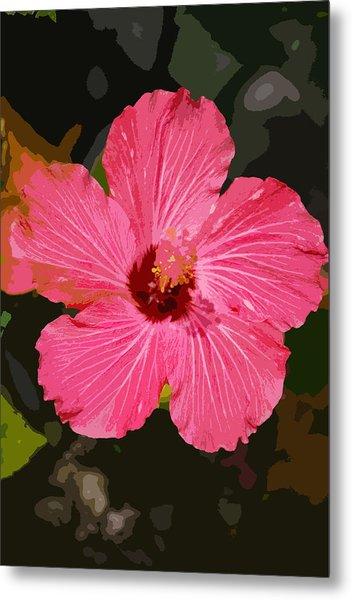 Pink Hibiscus Metal Print by Kimberly Camacho