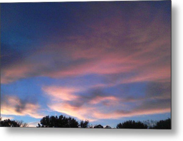 Pink Morning Clouds Metal Print