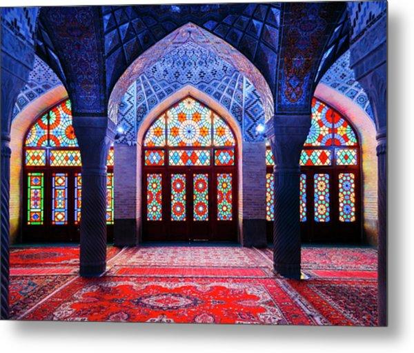 Pink Mosque, Iran Metal Print