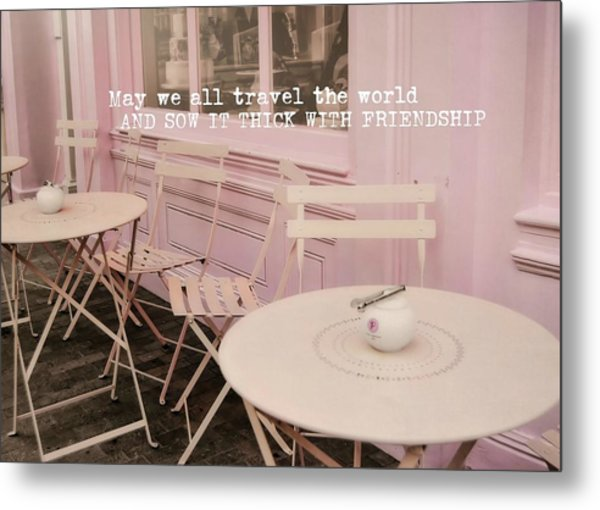 Pink Party Cakes Quote Metal Print by JAMART Photography