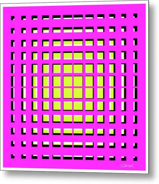 Pink Polynomial Metal Print
