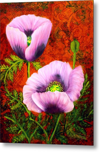 Pink Poppies Metal Print by Lynn Lawson Pajunen
