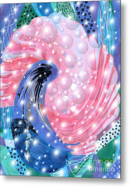 Pink Shell Fantasia Metal Print