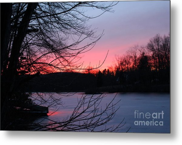 Pink Sky At Night Metal Print