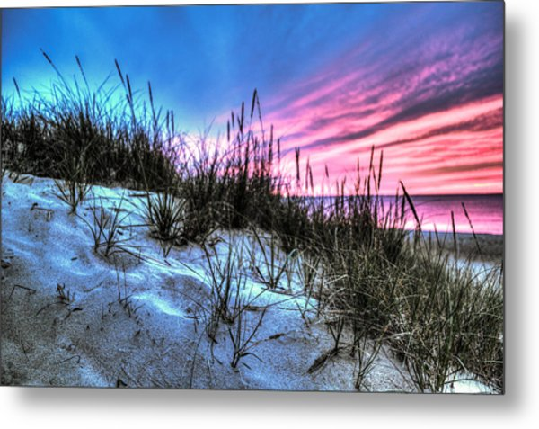 Pink Sky At Night Metal Print