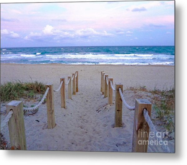 Pink Sunrise Beach Treasure Coast Florida C6 Metal Print