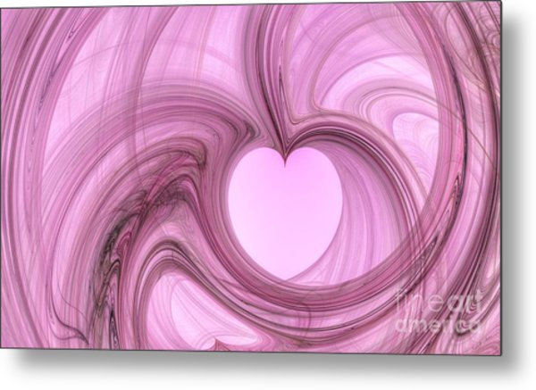 Pink Valentine Metal Print by YoursByShores Isabella Shores