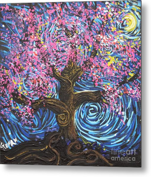 Pinky Tree Metal Print