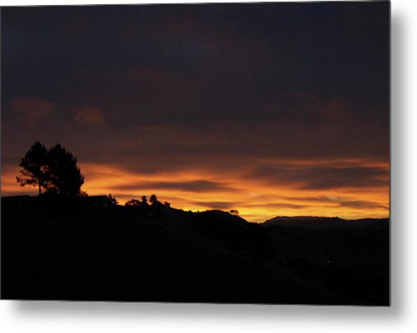 Pinole Valley At Dawn Metal Print