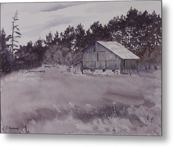 Pioneer Barn Metal Print by Debbie Homewood