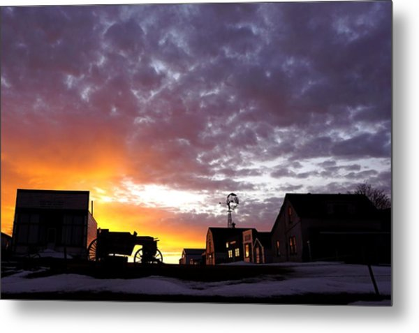 Pioneer Town Sunset Metal Print