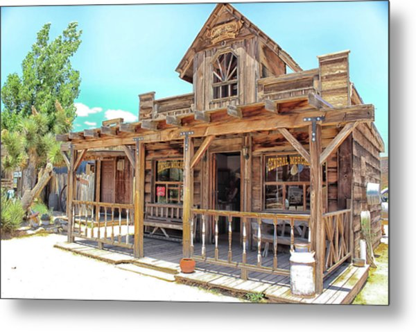 Metal Print featuring the photograph Pioneertown, Usa by Alison Frank