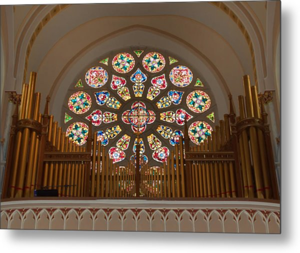 Pipe Organ - Church Metal Print