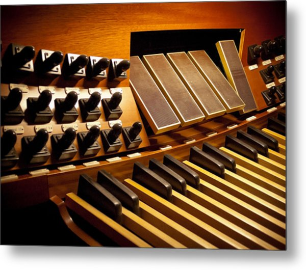 Pipe Organ Pedals Metal Print