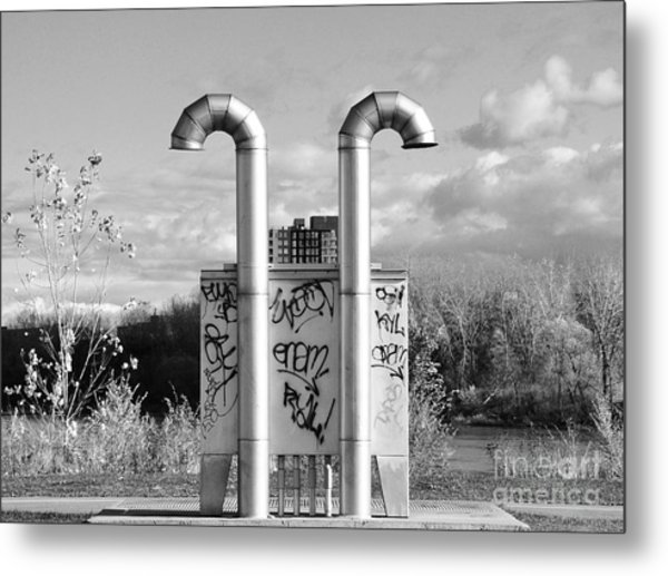 Pipes On The River Metal Print