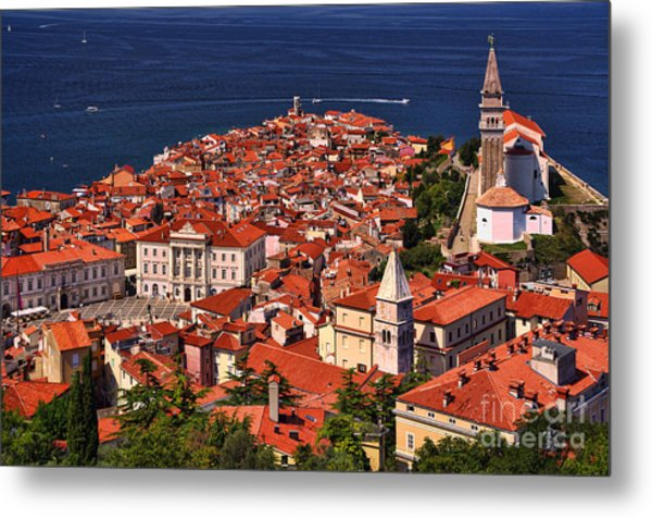Piran From The Castle Wall Metal Print