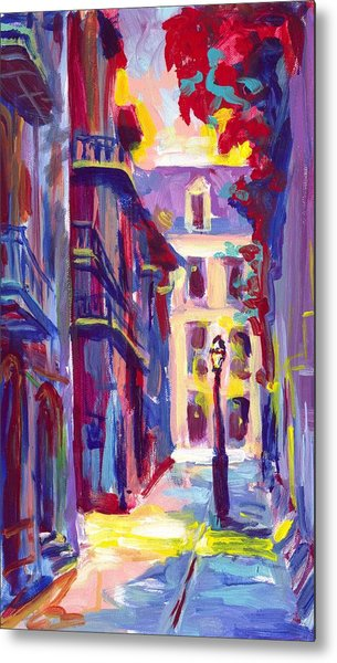Pirates Alley New Orleans Metal Print by Saundra Bolen Samuel