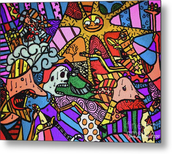 Pirates Metal Print by Jerry L Barrett