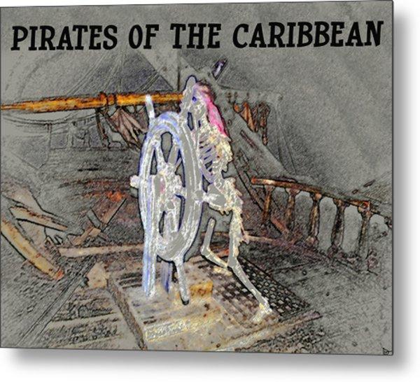 Pirates Skeleton Metal Print
