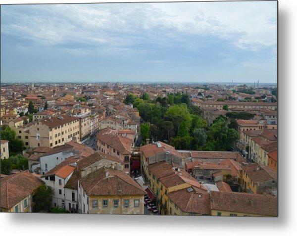 Pisa From Above Metal Print