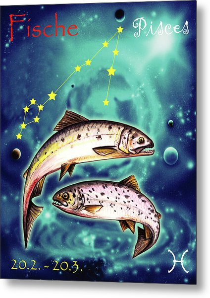 Pisces In The Sky Metal Print