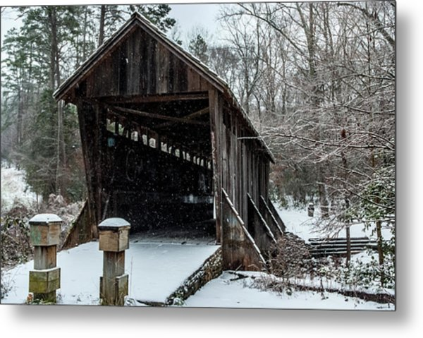 Pisgah Covered Bridge - Modern Metal Print