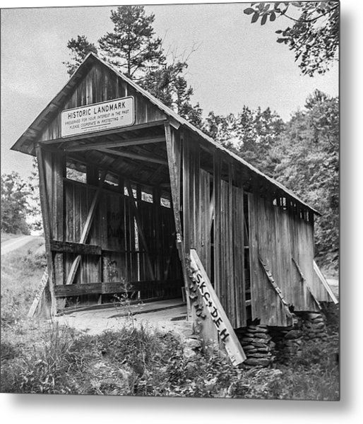 Pisgah Covered Bridge No. 1 Metal Print