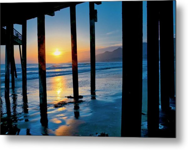 Pismo Beach Pier Sunset Metal Print