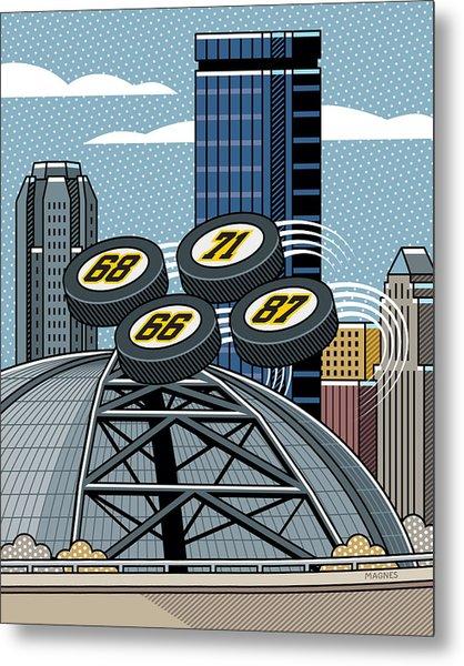 Pittsburgh Civic Arena Metal Print