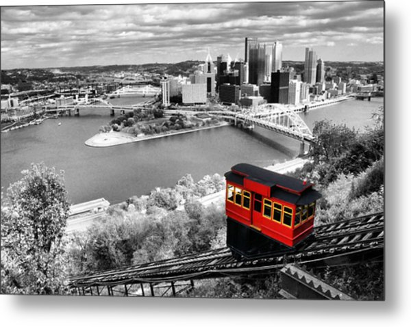 Pittsburgh From The Incline Metal Print