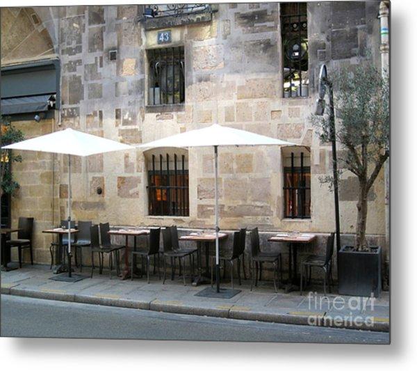 Place Des Victoires Cafe Metal Print by Suzanne Krueger