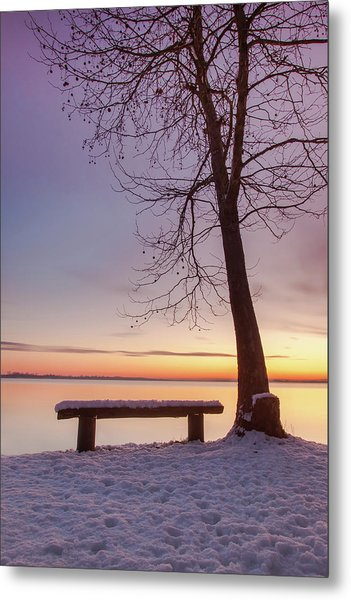 Metal Print featuring the photograph Place For Two by Davor Zerjav