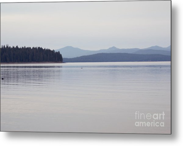 Placid Mountain Lake Metal Print