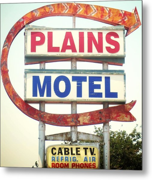 Plains Motel Metal Print