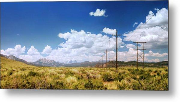 Plains Of The Sierras Metal Print