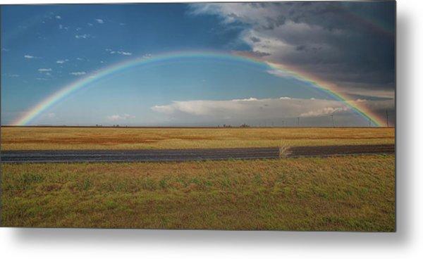 Plainview Rainbow Metal Print