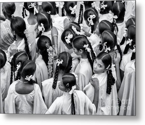Plaits And Bows Metal Print by Tim Gainey