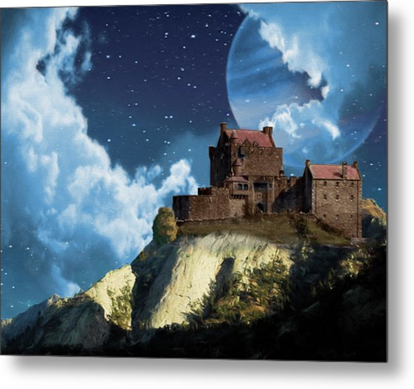 Planet Castle Metal Print
