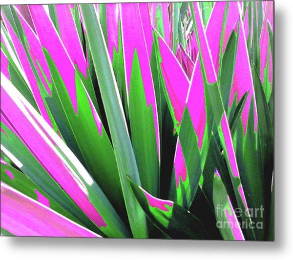 Plant Burst - Pink Metal Print
