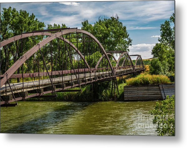Platte River Bridge Metal Print