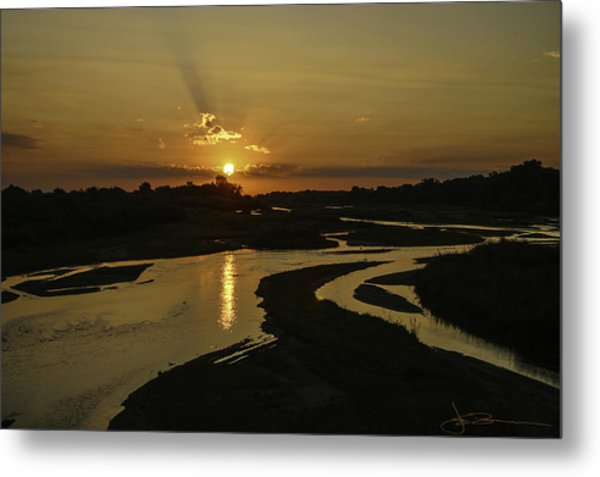 Platte Sunrise 3890 Metal Print