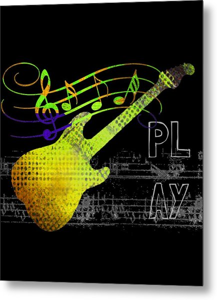 Metal Print featuring the digital art Play 2 by Guitar Wacky