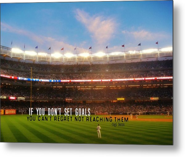 Play Ball Quote Metal Print by JAMART Photography
