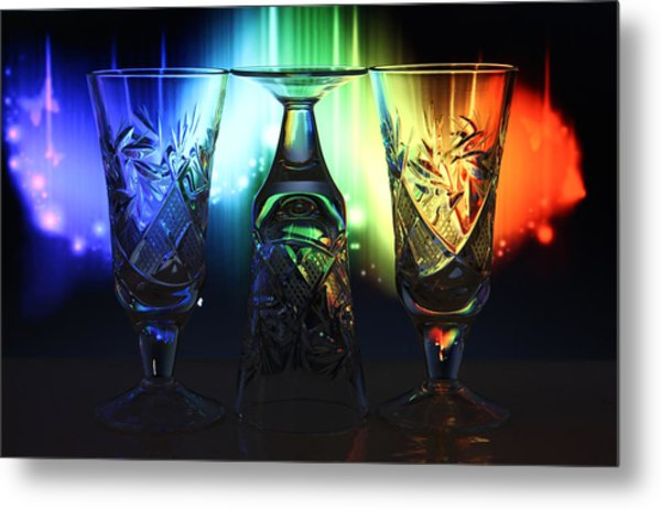 Play Of Glass And Colors Metal Print